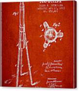 Rocket Patent Drawing From 1883 Canvas Print