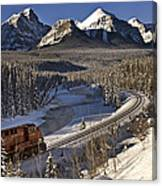 Rocky Mountains In Winter Canvas Print