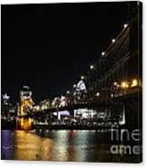 Roebling Suspension Bridge 9939 Canvas Print