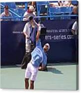 Roger Federer After 1st Slam Canvas Print