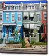 Row Houses In Washington D.c. Canvas Print