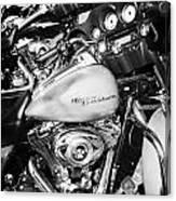 Row Of Harley Davidson Street Glide Motorbikes Outside Motorcycle Dealership Orlando Florida Usa Canvas Print