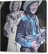 Roy Rogers And Dale Evans #2 Cut-outs Tombstone Arizona 2004 Canvas Print