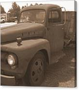 Rusty Ford Truck Canvas Print