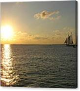 Sailing Into The Sunset - Key West Canvas Print