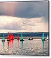 Sailing On Marine Lake A Reflection Canvas Print