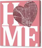 San Diego Street Map Home Heart - San Diego California Road Map  Canvas Print