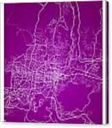 San Salvador Street Map - San Salvador El Salvador Road Map Art  Canvas Print
