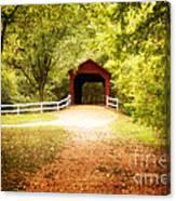 Sandy Creek Covered Bridge Canvas Print