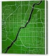 Saskatoon Street Map - Saskatoon Canada Road Map Art On Colored  Canvas Print