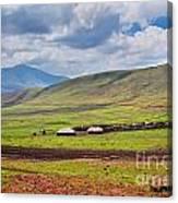 Savannah Landscape In Tanzania Canvas Print