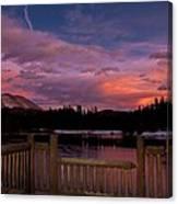 Sawmill Lake Sunset Canvas Print