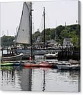 Schooner Camden Harbor - Maine Canvas Print