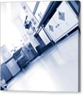 Scientist Working In A Laboratory Canvas Print