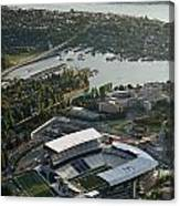 Seattle Skyline With Aerial View Of The Newly Renovated Husky St Canvas Print