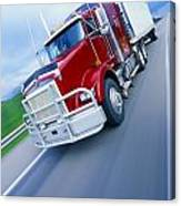 Semi-trailer Truck Canvas Print