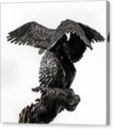 Seraph Angel A Religious Bronze Sculpture By Adam Long Canvas Print