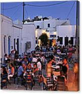 Serifos Town During Dusk Time Canvas Print