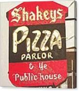 Shakey's Pizza Canvas Print