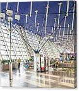 Shanghai Pudong Airport In China Canvas Print