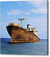 Shipwreck On Lanzarote Canvas Print