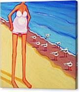 Shorebirds Of A Feather Canvas Print