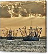 2 Shrimper Going To Sea Canvas Print
