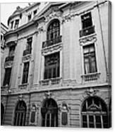 side of Santiago Stock Exchange building Chile Canvas Print