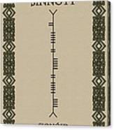 Sinnott Written In Ogham Canvas Print