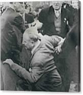 Sir Oswald Mosley Dies In Paris Canvas Print