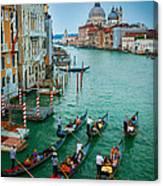 Six Gondolas Canvas Print