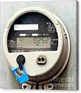 Smart Grid Residential Digital Power Supply Meter Canvas Print