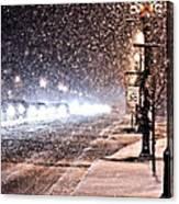 Snow Rush  Canvas Print