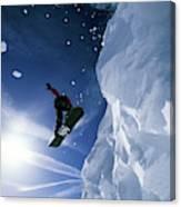Snowboarding In Lake Tahoe Canvas Print
