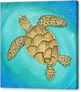 Solo Swimmer Canvas Print