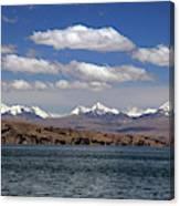 South America, Bolivia, Lake Titicaca Canvas Print