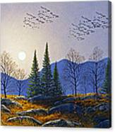 Southern Migration By Moonlight Canvas Print