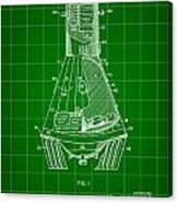 Space Capsule Patent 1959 - Green Canvas Print