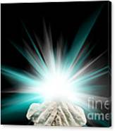 Spiritual Light In Cupped Hands On A Black Background Canvas Print