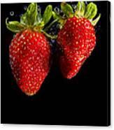 Splash Strawberry Canvas Print