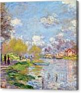 Spring By The Seine Canvas Print