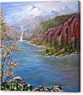 Spring on Glacier Lake Canvas Print