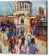 St Paul's From The Millennium Bridge Canvas Print