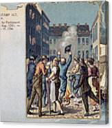 Stamp Act Riot, 1765 Canvas Print