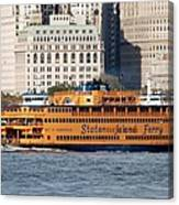 Staten Island Ferry Canvas Print