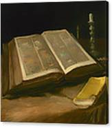 Still Life With Bible Canvas Print