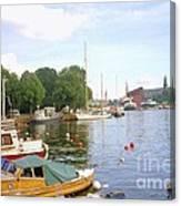 Stockholm City Harbor Canvas Print