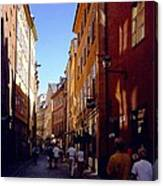 Stockholm City Old Town Canvas Print