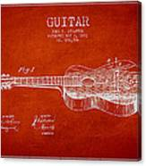 Stratton Guitar Patent Drawing From 1893 Canvas Print
