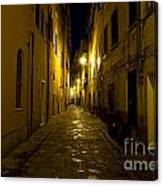 Street Alley By Night Canvas Print